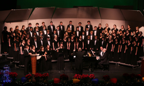 Photo from an Upper School choral concert